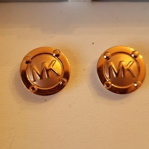 Michael Kors Nwt Rose Gold  Logo Stud Earrings mi